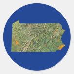 Pegatina del mapa de Pennsylvania