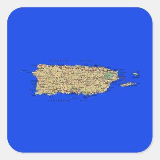 Pegatina del mapa de Puerto Rico
