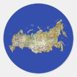 Pegatina del mapa de Rusia