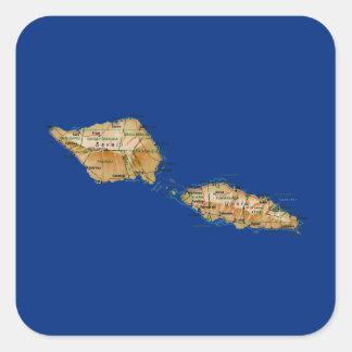 Pegatina del mapa de Samoa