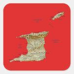 Pegatina del mapa de Trinidad and Tobago
