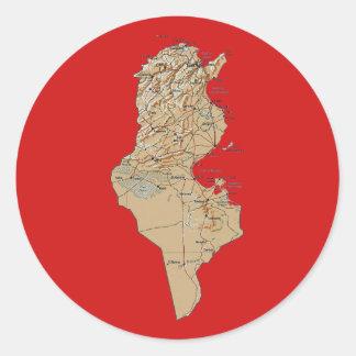 Pegatina del mapa de Túnez