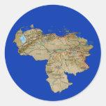 Pegatina del mapa de Venezuela