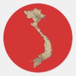 Pegatina del mapa de Vietnam