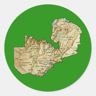 Pegatina del mapa de Zambia