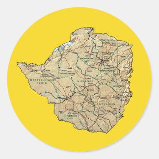 Pegatina del mapa de Zimbabwe