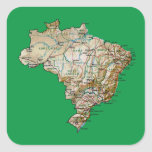Pegatina del mapa del Brasil