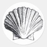Pegatina del Mar Negro Shell