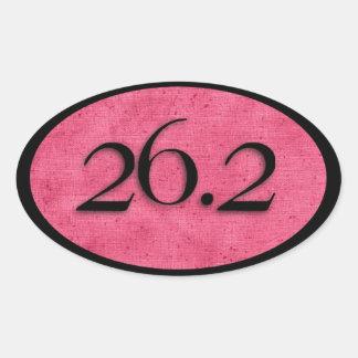 Pegatina del maratón del rosa 26,2 por Vetro