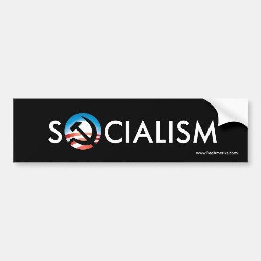 Pegatina del martillo de la esperanza del socialis etiqueta de parachoque