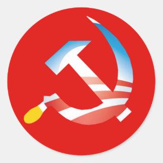 Pegatina del martillo y de la hoz de Obama
