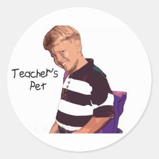 Pegatina del mascota del profesor
