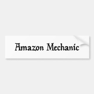 Pegatina del mecánico del Amazonas Pegatina De Parachoque