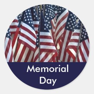Pegatina del Memorial Day