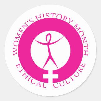 Pegatina del mes de la historia de las mujeres