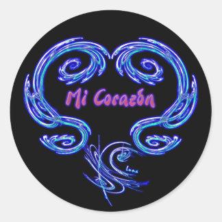 Pegatina del MI Corazon (español - negro)