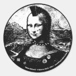 Pegatina del Mohawk de Mona