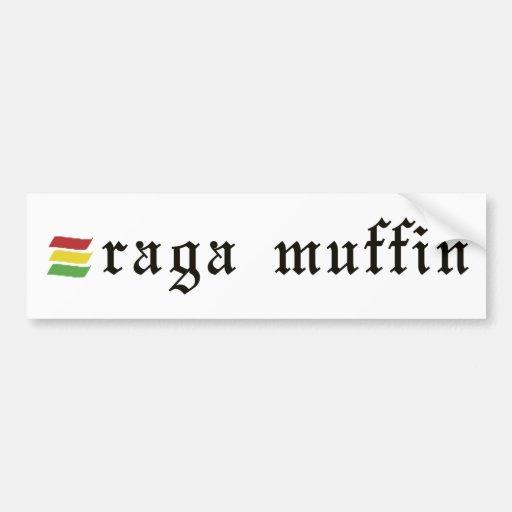 Pegatina del mollete de Raga Etiqueta De Parachoque