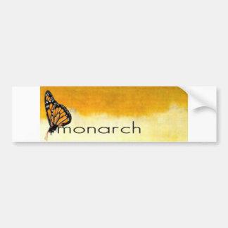 Pegatina del monarca etiqueta de parachoque
