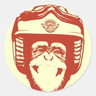 Pegatina del mono de Moto (rojo)