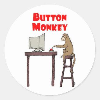 """""""Pegatina del mono del botón"""""""