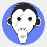Pegatina del mono del canal: Azul