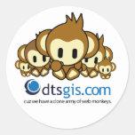 Pegatina del mono del Web