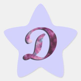Pegatina del monograma D