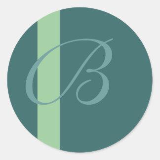 Pegatina del monograma de B