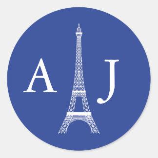 Pegatina del monograma de la torre Eiffel