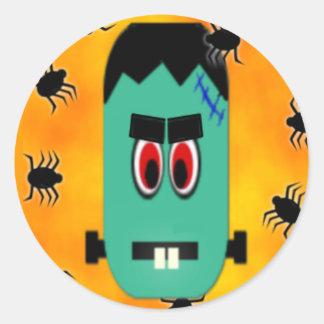 Pegatina del monstruo de Halloween