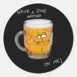 pegatina del monstruo de la cerveza de la novedad