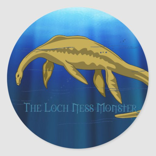 Pegatina del monstruo de Loch Ness