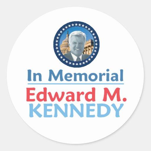 Pegatina del monumento de Ted Kennedy