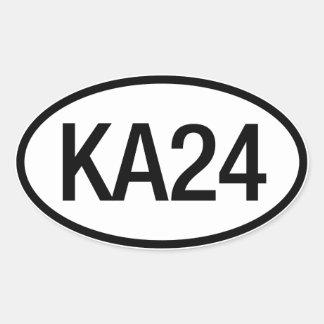 Pegatina del motor de Datsun Nissan KA24