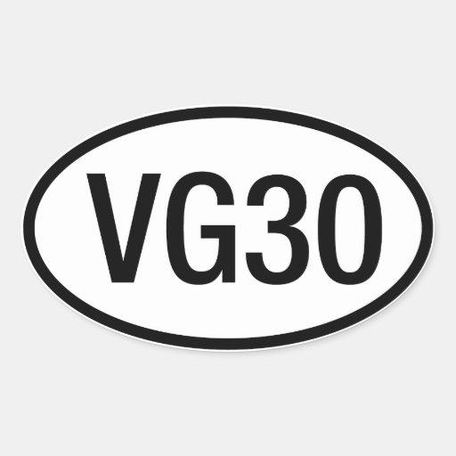 Pegatina del motor de Datsun Nissan VG30