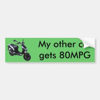 pegatina del mpg del rattler 80 etiqueta de parachoque