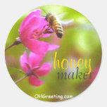Pegatina del ms del fabricante de la miel