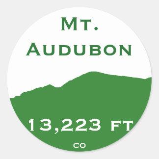 Pegatina del Mt. Audubon