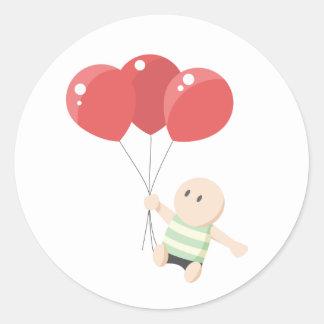Pegatina del muchacho del globo
