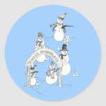 Pegatina del muñeco de nieve