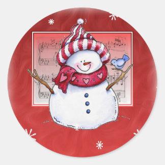 Pegatina del muñeco de nieve del navidad