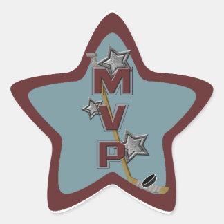 Pegatina del MVP de la estrella del hockey