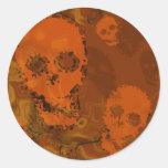 Pegatina del naranja de los espectros del cráneo