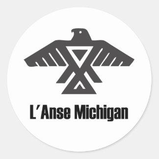 Pegatina del nativo americano de L'Anse Michigan