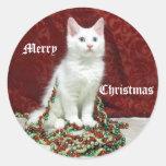 Pegatina del navidad de Bianca