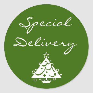 Pegatina del navidad de la entrega especial