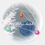 Pegatina del navidad de la luna azul