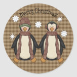Pegatina del navidad de los Pals del pingüino