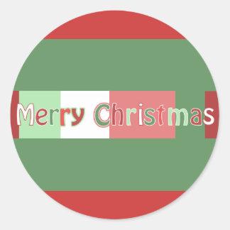 Pegatina del navidad de Merrry de las letras del